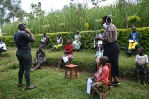 The Water Project: Shikoti Community, Amboka Spring -  Wear A Mask At All Times When In Public