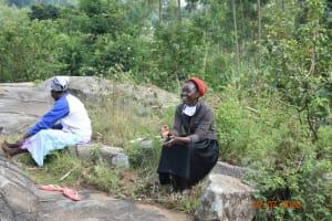 The Water Project: Eshiakhulo Community, Asman Sumba Spring -  Mercy Adheres To Social Distancing At Training