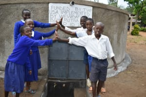The Water Project: Mutiva Primary School -  Happy To Get Clean Water