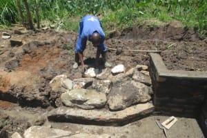 The Water Project: Mahira Community, Litinyi Spring -  Stone Pitching