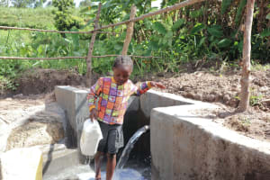 The Water Project: Mahira Community, Litinyi Spring -  Carrying Water