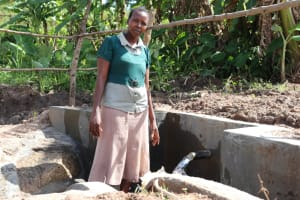 The Water Project: Mahira Community, Litinyi Spring -  Posing At The Spring