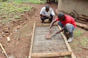 The Water Project: Harambee Community, Elijah Kwalanda Spring -  Sanplat Construction