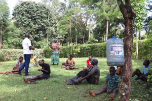 The Water Project: Harambee Community, Elijah Kwalanda Spring -  Community Member Reacts To Training