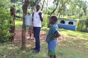 The Water Project: Harambee Community, Elijah Kwalanda Spring -  Leaky Tin Construction