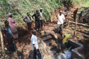 The Water Project: Harambee Community, Elijah Kwalanda Spring -  Mounting Clean Water