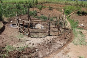 The Water Project: Mukhuyu Community, Chisombe Spring -  Cut Off Drainage