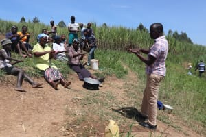 The Water Project: Mukhuyu Community, Chisombe Spring -  Ten Handwashing Steps Training