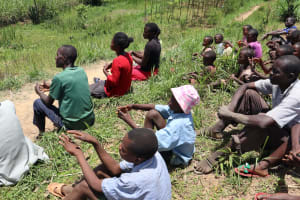The Water Project: Mukhuyu Community, Chisombe Spring -  Participants Try The Ten Handwashing Steps