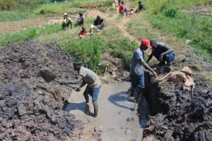 The Water Project: Mukhuyu Community, Chisombe Spring -  Excavation