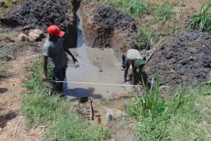 The Water Project: Mukhuyu Community, Chisombe Spring -  Site Measurements