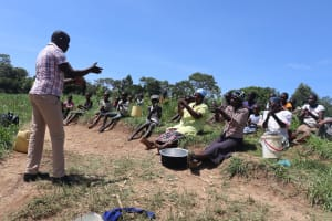 The Water Project: Mukhuyu Community, Chisombe Spring -  Handwashing Training Session