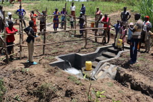 The Water Project: Mukhuyu Community, Chisombe Spring -  Facilitator Doing An Onsite Training
