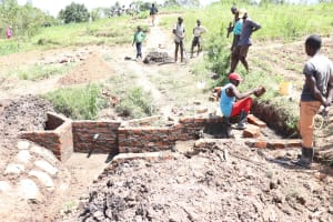 The Water Project: Mukhuyu Community, Chisombe Spring -  Stair Construction