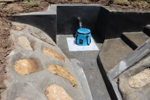 The Water Project: Mukhuyu Community, Chisombe Spring -  Flowing Water