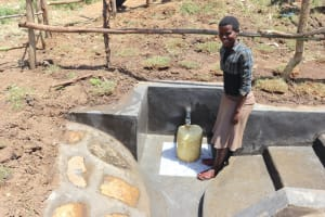 The Water Project: Mukhuyu Community, Chisombe Spring -  Posing At The Completed Spring