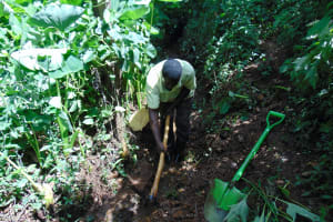 The Water Project: Harambee Community, Elijah Kwalanda Spring -  Opening The Drainage Channel