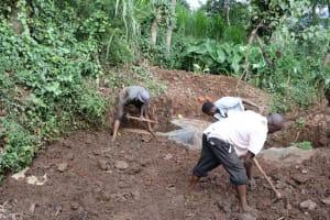 The Water Project: Harambee Community, Elijah Kwalanda Spring -  Soil Backfilling