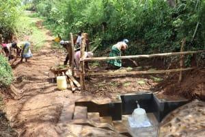 The Water Project: Harambee Community, Elijah Kwalanda Spring -  Grass Planting At Training