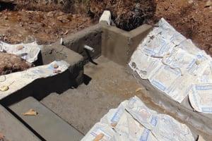 The Water Project: Harambee Community, Elijah Kwalanda Spring -  Plastered Walls