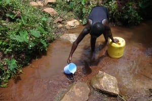 The Water Project: Shihome Community, Peter Majoni Spring -  First You Scoop
