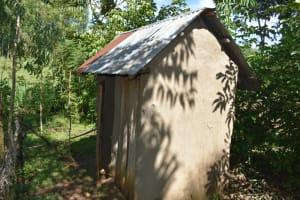 The Water Project: Emusaka Community, Muluinga Spring -  Latrine