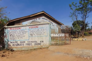 The Water Project: Ivakale Primary School & Community - Rain Tank 1 -  Entrance To School