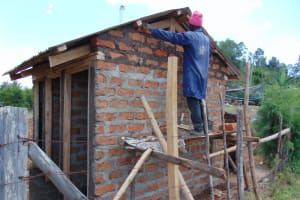 The Water Project: Malinda Secondary School -  Latrine Construction