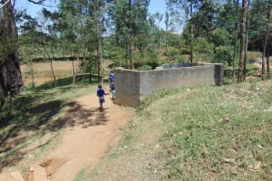 The Water Project: Ivakale Primary School & Community - Rain Tank 1 -  Boys Urinal