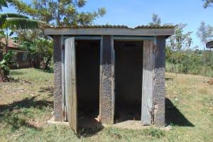 The Water Project: Ivakale Primary School & Community - Rain Tank 1 -  Latrine Block With Missing Door