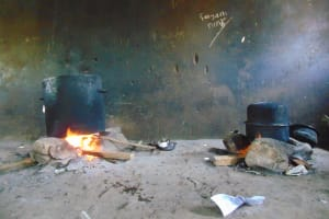 The Water Project: Ivakale Primary School & Community - Rain Tank 1 -  Cooking Lunch Inside Kitchen