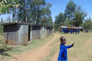 The Water Project: Ivakale Primary School & Community - Rain Tank 1 -  Walking To The Latrines