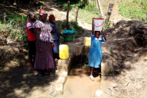 The Water Project: Ivakale Primary School & Community - Rain Tank 1 -  Ready To Walk Back To School