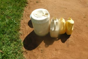 The Water Project: Mahola Community, Oyula Spring -  Water Storage