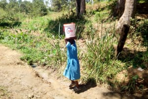 The Water Project: Ivakale Primary School & Community - Rain Tank 1 -  On The Walk Back To School