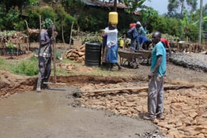 The Water Project: Malinda Secondary School -  Pouring Rain Tank Foundation