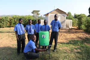 The Water Project: Malinda Secondary School -  Students With A New Handwashing Station
