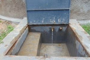 The Water Project: Boyani Primary School -  Water Flowing From The Tap At Boyani Water Point