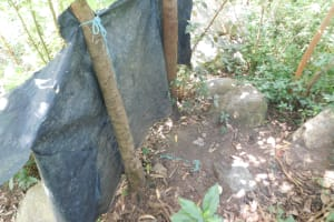 The Water Project: Mabanga Community, Ashuma Spring -  Inside The Bathing Shelter