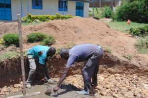 The Water Project: Malinda Secondary School -  Rain Tank Foundation Work