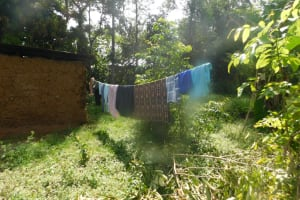 The Water Project: Mahola Community, Oyula Spring -  Clothesline