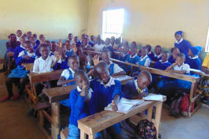The Water Project: Ivakale Primary School & Community - Rain Tank 1 -  Pupils In Class