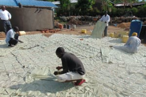 The Water Project: Malinda Secondary School -  Preparing The Dome For Casting