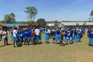The Water Project: Ivakale Primary School & Community - Rain Tank 1 -  Enjoying A Break On The Playgrounds