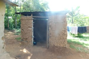 The Water Project: Mahola Community, Oyula Spring -  Outside The Kitchen