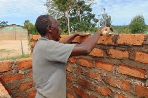 The Water Project: Malinda Secondary School -  Latrine Brickwork