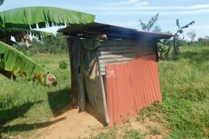 The Water Project: Mahola Community, Oyula Spring -  Outside The Latrine