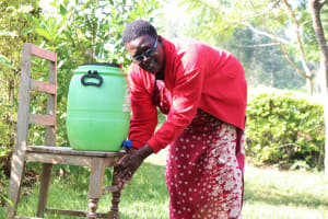 The Water Project: Ibinzo Community, Lucia Spring -  Violet Handwashing