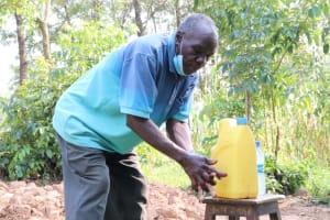 The Water Project: Shihingo Community, Inzuka Spring -  Gerald Handwashing