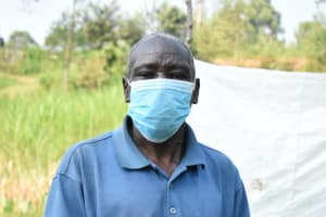 The Water Project: Shihingo Community, Inzuka Spring -  Gerald With His Mask On